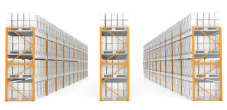 Warehouse shelves. Rack x 30. Part of Warehouse series Royalty Free Stock Photo