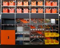 Warehouse shelves Stock Photos