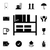Warehouse shelves icon. Detailed set of logistic icons. Premium quality graphic design icon. One of the collection icons for websi royalty free illustration