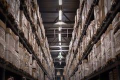 Warehouse shelves Stock Photos
