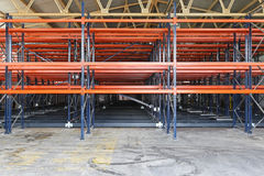Warehouse shelves Stock Images