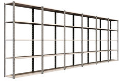 Warehouse Shelves Perspective Royalty Free Stock Photo