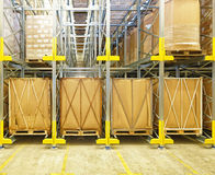 Warehouse Shelves Royalty Free Stock Photography
