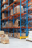 Warehouse shelving Royalty Free Stock Photography