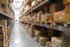 Warehouse shelving Stock Photography