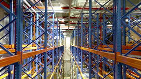 Warehouse Shelving System stock video footage