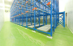 Warehouse shelving system Stock Image