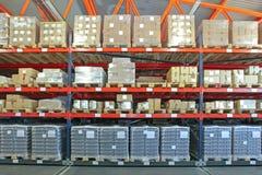 Warehouse Shelving System royalty free stock photos