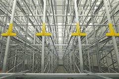 Warehouse Shelving System Royalty Free Stock Photography