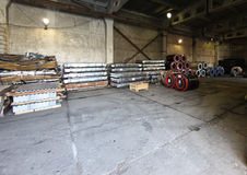 Warehouse for shipping, handling and storage of sheet metal Stock Photography