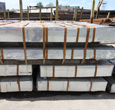 Warehouse for shipping, handling and storage of sheet metal Stock Photos