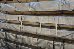 Warehouse for shipping, handling and storage of sheet metal Royalty Free Stock Photo