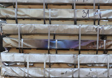 Warehouse for shipping, handling and storage of sheet metal Royalty Free Stock Photos