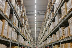 It is a warehouse shopping center royalty free stock photography