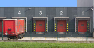 Warehouse with Slots for Trucks Stock Image