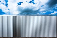 Warehouse with solar panels Stock Image