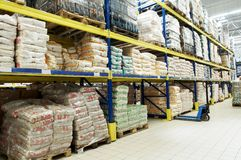 Warehouse stack arrangement Royalty Free Stock Images