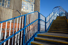 Warehouse stairs flyover Royalty Free Stock Photography
