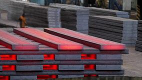 Warehouse of steel. stock video