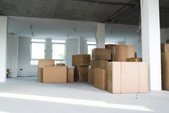 Warehouse - Storage boxes Royalty Free Stock Photography