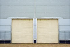 Warehouse storage doorsclosed. Royalty Free Stock Photography