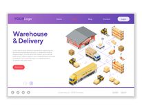 Warehouse Storage and Delivery Isometric Infographics vector illustration