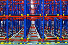 Warehouse storage, rack systems Royalty Free Stock Images