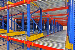 Warehouse storage, rack systems Stock Images