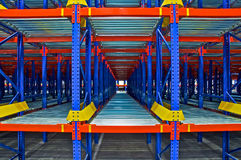 Warehouse storage, rack systems Stock Image