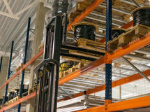 Warehouse storage racks. Royalty Free Stock Photography