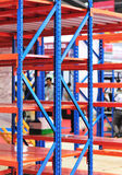 Warehouse storage shelf Royalty Free Stock Photography