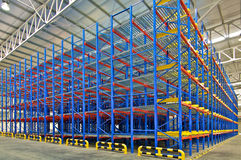 Warehouse storage shelving racking systems Royalty Free Stock Photography