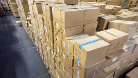 Warehouse. store. storehouse. hall cartons Stock Photos