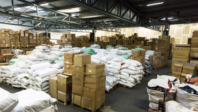 Warehouse. store. storehouse. hall cartons stock business Stock Photography