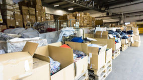 Warehouse. store. storehouse. hall cartons stock business Stock Images