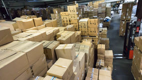 Warehouse. store. storehouse. hall goods Royalty Free Stock Photo