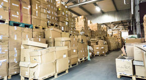 Warehouse. store storehouse hall stock business Royalty Free Stock Photo
