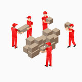 Warehouse storehouse workers Stock Photo