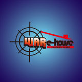 Warehouse. The target logo is represent a right on target, war is represent spirit, e- isrepresent smart, house is where all gathered, so this logos is represent Royalty Free Stock Images