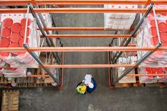 Warehouse Top View royalty free stock photography