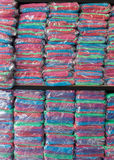 Warehouse of towel softness fluffy fiber fabric Stock Photography