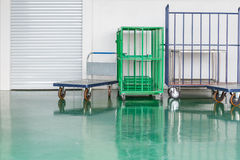 Warehouse trolley for industry Royalty Free Stock Photography