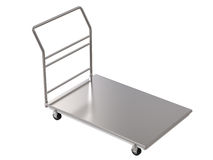 Warehouse trolley or platform trolley Royalty Free Stock Photography