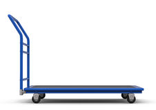 Warehouse trolley or platform trolley Royalty Free Stock Photo