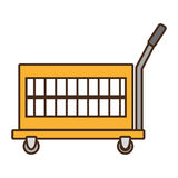 warehouse trolley with protection boxes stock illustration