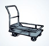 Warehouse trolley. Vector drawing stock illustration