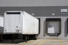 Warehouse truck loading Stock Images