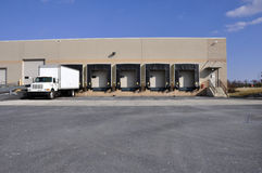 Warehouse unloading dock Royalty Free Stock Photos