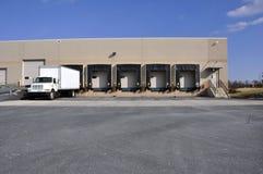 Warehouse unloading dock royalty free stock photos