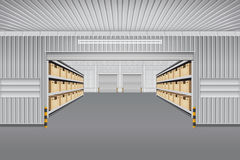 Warehouse Vector Background stock illustration